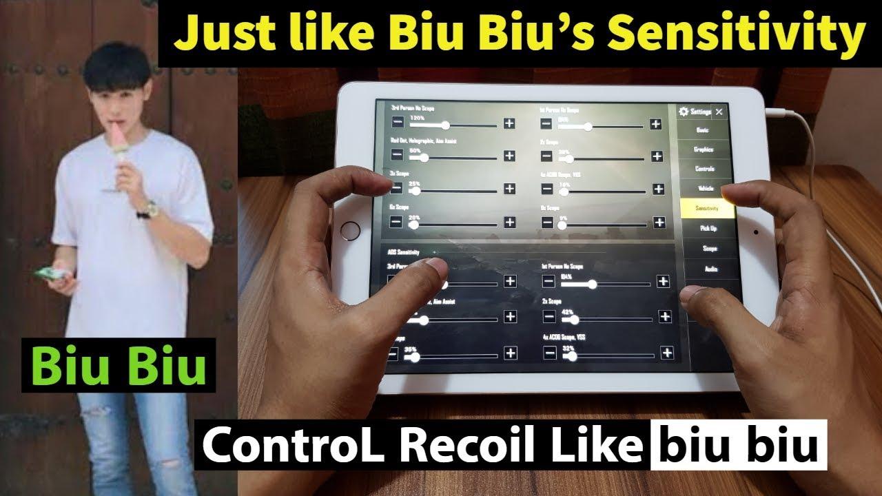 Biu Biu Sensitivity Pubg Mobile Best Sensitivity Settings ...