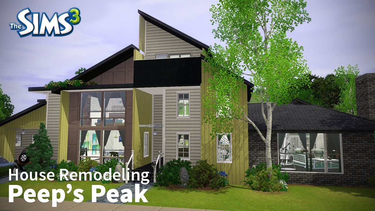 The sims 3 house remodeling peep 39 s peak base game only youtube House remodeling games online