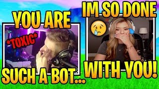BROOKE *MAD* WHEN SYMFUHNY UNFOLLOWS HER! CUTEST FORTNITE DUO!  (Fortnite Stream Highlights)