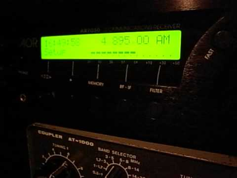 """4895kHz ID """"97.5FM"""" (new year's extended programme of Mongolia Radio, strongly presumed)"""