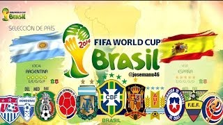 Video FIFA 2014 World Cup Todas las Selecciones Nacionales y Estadios Licenciados download MP3, 3GP, MP4, WEBM, AVI, FLV November 2017