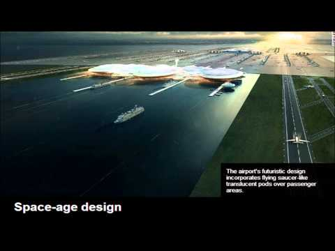 Futuristic London Airport proposed for island in middle of Thames