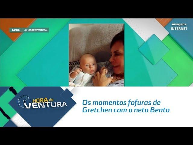 Os momentos fofuras de Gretchen com o neto Bento, filho de Thammy - Bloco 01