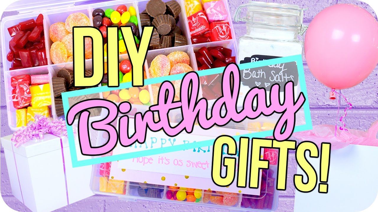 Easy DIY Birthday Gifts