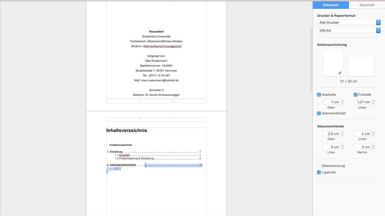 Wissenschaftliche Arbeit Mit Pages Youtube