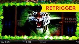 Quick Hit Jungle Slot - BIG WIN BONUS RETRIGGER! screenshot 1