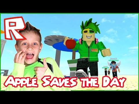 Apple Saves The Day / Roblox Natural Disaster Survival