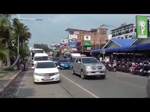 Thailand:  Pattaya Beach Road to Jomtien Beach Road with Bahtbus