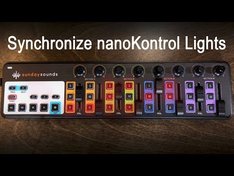 Synchronize nanoKontrol Lights with MainStage 3