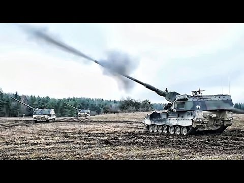 German PzH 2000 Fire-Mission During NATO Exercise (2017)