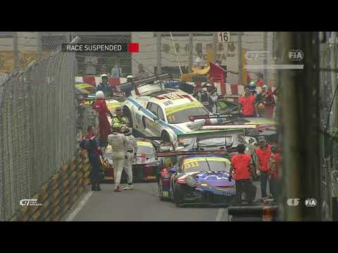 BIG CRASH - 2017 FIA GT World Cup a Macao lors des qualification