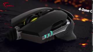 GSKILL RIPJAWS MX780 Cutting Edge Ambidextrous RGB 8200 DPI Laser Gaming Mouse with Adjustable Grips