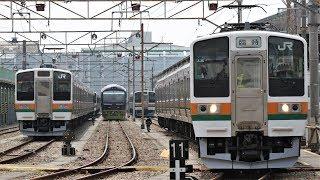 【幕車A36】鉄道わくわくフェスティバルin新前橋 211系A36編成 洗浄線体験 発車
