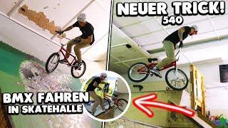 NEUER TRICK in SKATEHALLE mit BMX! 🔥 (540)