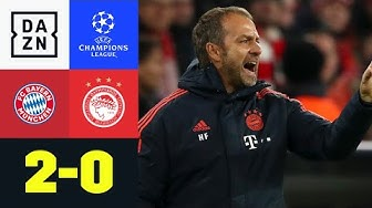 Lewandowski & Perisic retten Flick-Premiere: Bayern - Olympiakos 2:0 | UEFA Champions League | DAZN