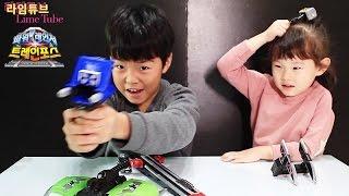 레일바주카 파워레인져 트레인포스 반다이남코 장난감 열차합체 Ressha Sentai ToQger Toys Unboxing & Review おもちゃ đồ chơi 라임튜브