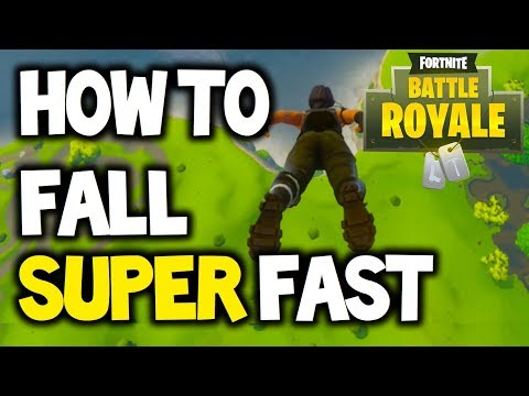 FORTNITE - HOW TO FALL FAST / LAND FASTER - BATTLE ROYALE (Skydive Super Fast) - Tips And Tricks