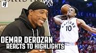 DeMar DeRozan Reacts To DeMar DeRozan Highlights!