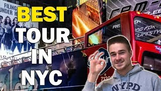 Night Bus Tour NYC Review (Best Tour In New York!)