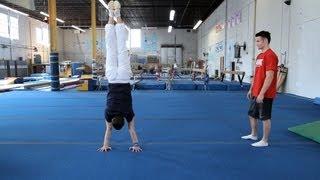How to Do a Handstand Press   Gymnastics Lessons