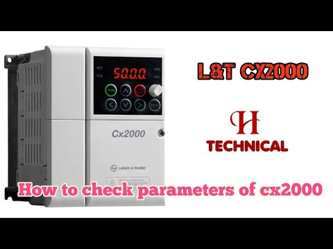 How To Install L T Ac Drive L T Cx2000 Programming How To Check Parameters Of Cx2000 Youtube