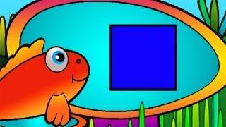 Развивающие мультики - геометрические фигуры - квадрат
