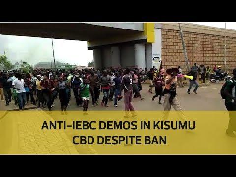 Anti-IEBC demos in Kisumu CBD despite ban