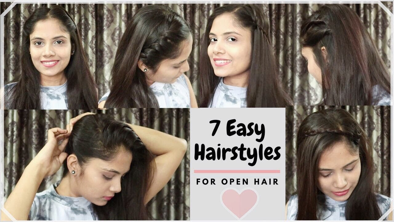 11 Different Ways to Style Open Hair Everyday Quick&Easy Hairstyles For  school/collage/party