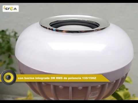 Foco LED 6W inalámbrico Multicolor bocina y control remoto. creaLED