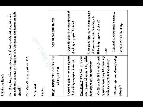 GIÁO ÁN MÔN HÓA:  Bài 10. Ý NGHĨA CỦA BẢNG TUẦN HOÀN CÁC NGUYÊN TỐ HOÁ HỌC