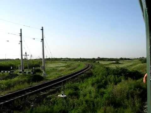 "Razjezd 9km, Anapa junction. View from ""Novorossiysk - Saint Petersburg"" train window."