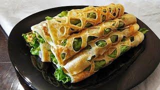 Кружевные блины: закуска для праздничного стола