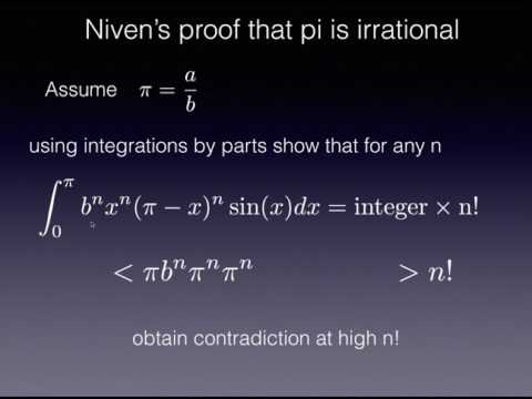 Niven's short proof that pi is irrational