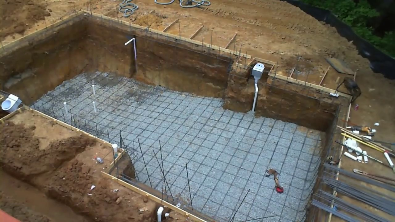 Inground swimming pool building process step by step for Building a house step by step