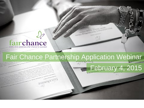 The Fair Chance Partnership: How to Apply 2015