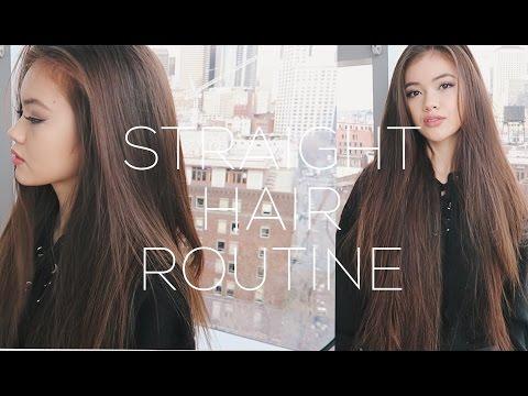 Straight Hair Routine + Volume Hair Tips | viviannnv