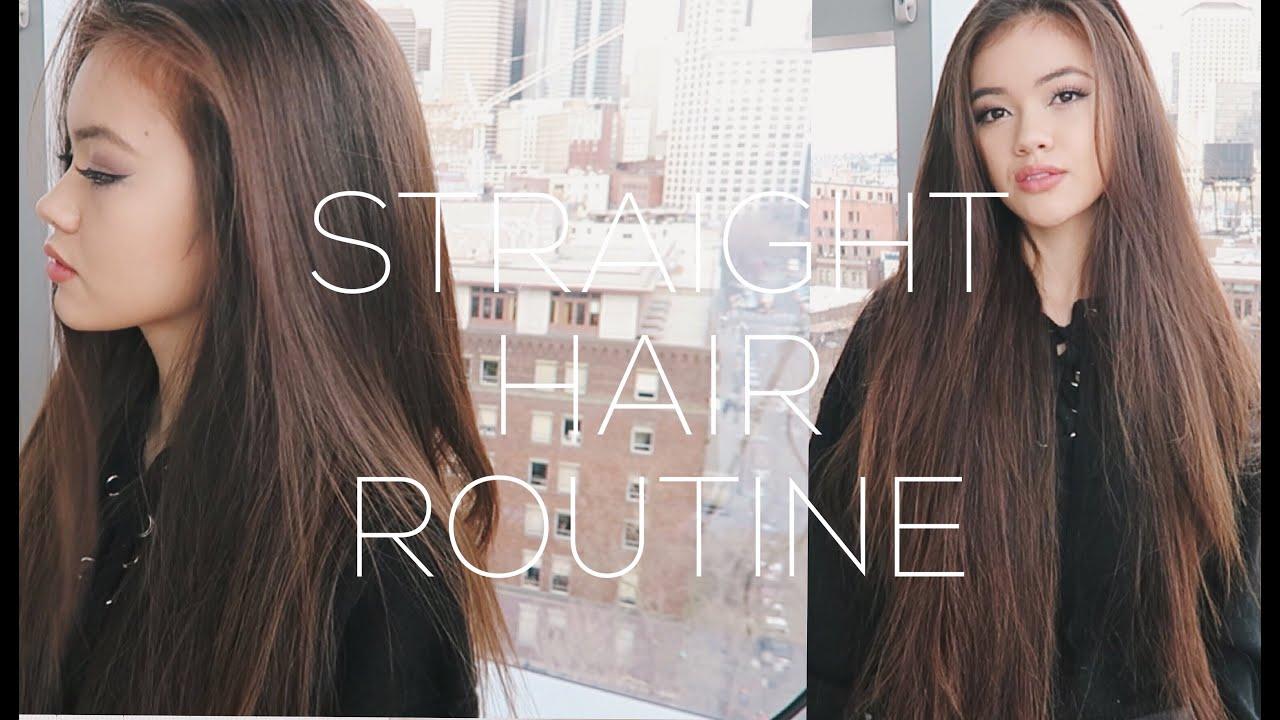 Straight Hair Routine + Volume Hair Tips