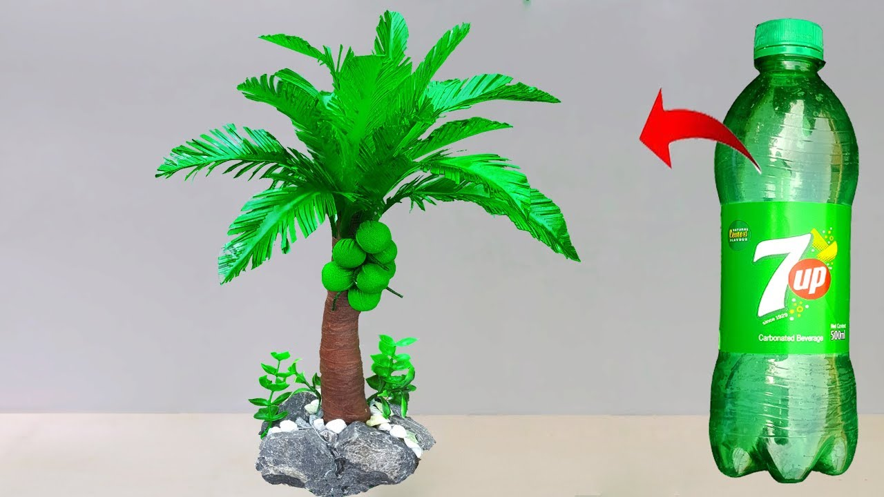 Plastic Bottle Coconut Tree Easy Making Best Out Of Waste
