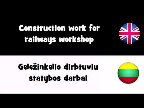 TRANSLATE IN 20 LANGUAGES = Construction work for railways workshop.avi