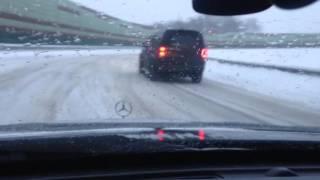 W210 2.8 снежный дрифт