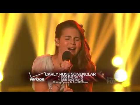 Carly Rose Sonenclar - Somewhere Over The Rainbow The X Factor USA (Thanksgiving week) Live Show 6