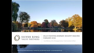 Value Investing Seminar: Security Analysis [Part 1] - Gary Mishuris