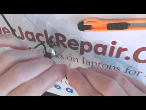 How to repair a broken dc power jack on Toshiba Satellite l650 socket input port on laptop