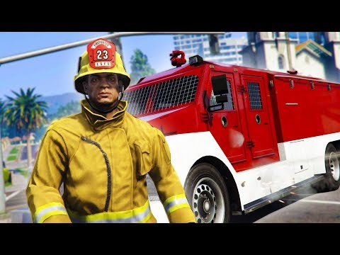PLAY AS A FIREFIGHTER! *HILARIOUS* | GTA 5 THUG LIFE #166