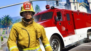 PLAYING AS A FIREFIGHTER ONLINE! *HILARIOUS!* | GTA 5 THUG LIFE #166