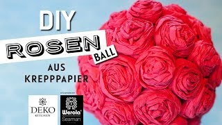 DIY: romantischer Rosenball aus Krepppapier [How to] Deko-Kitchen in Kooperation* mit Werola