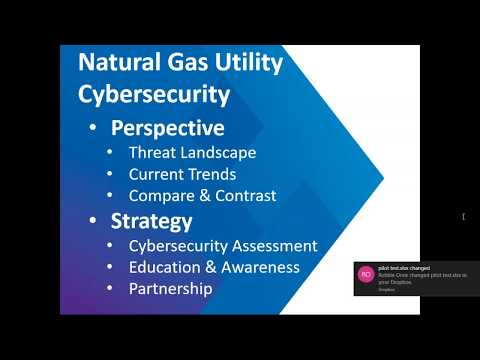 NARUC Webinar: Cybersecurity in the Natural Gas and Electric Sectors