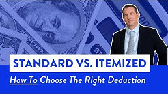 Standard Deduction vs Itemizing in 2019!! | Mark J. Kohler | Tax and Legal Tip