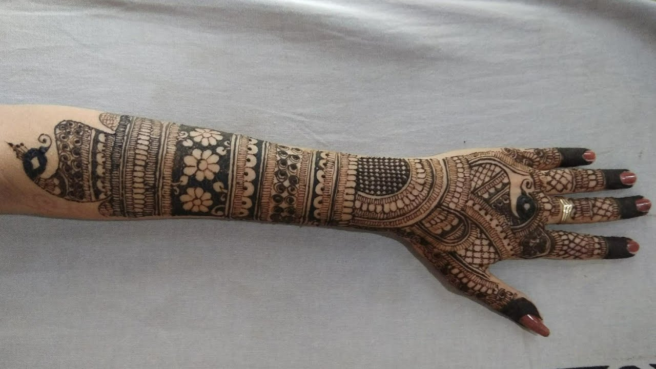 Bridal Mehndi Design For Full Hand Bridal Mehendi Design For Back