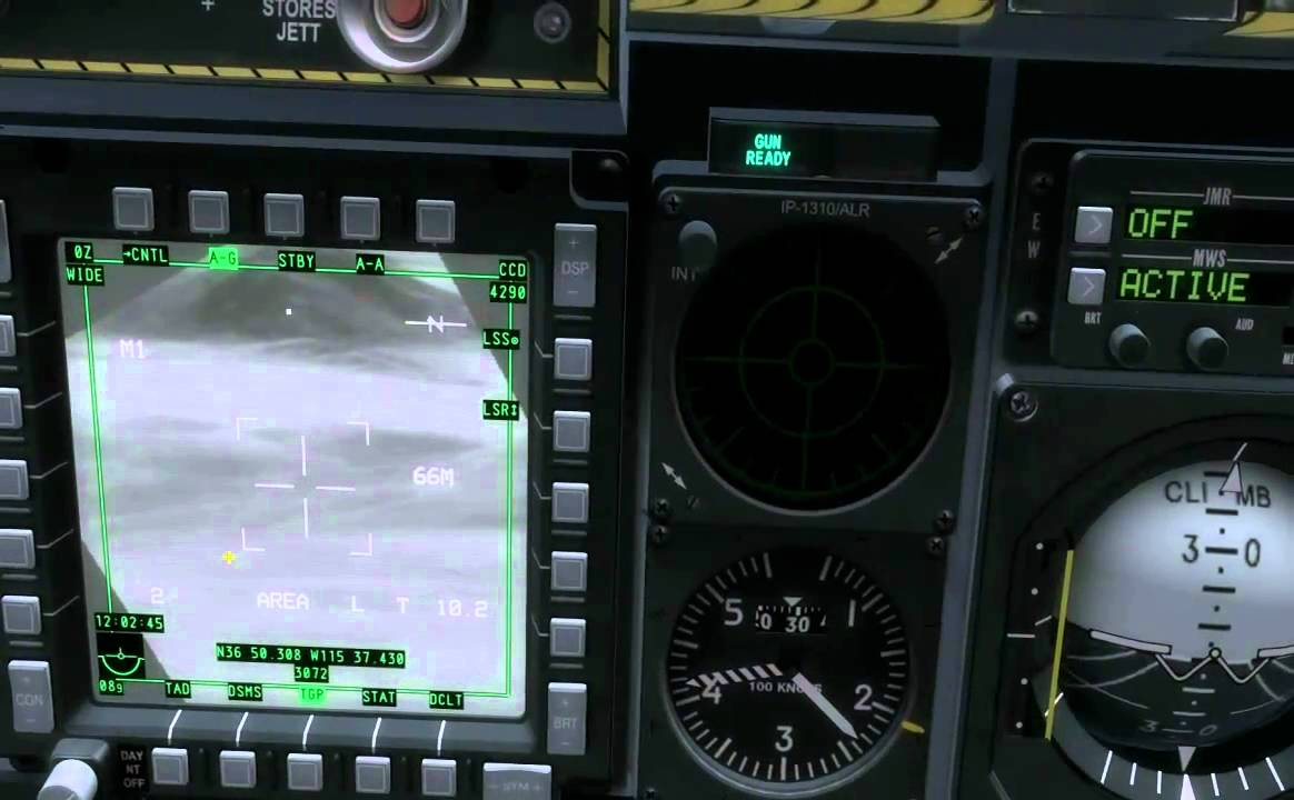 dcs a10 how to turn on targeting pod